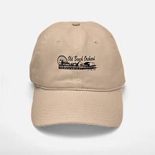 Old Orchard Beach ME - Pier Design. Baseball Baseball Cap