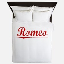 Romeo, Vintage Red Queen Duvet