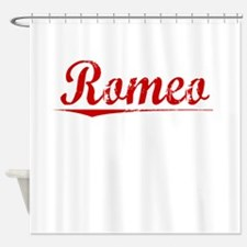 Romeo, Vintage Red Shower Curtain