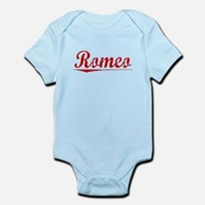 Romeo, Vintage Red Infant Bodysuit