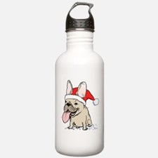 French Bulldog Christmas Water Bottle