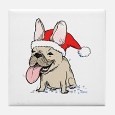 French Bulldog Christmas Tile Coaster