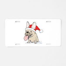 French Bulldog Christmas Aluminum License Plate