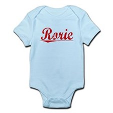 Rorie, Vintage Red Infant Bodysuit