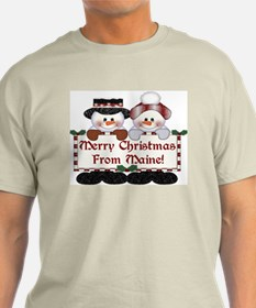 Merry Christmas From Maine! T-Shirt