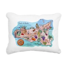 Map Of Sicily Rectangular Canvas Pillow