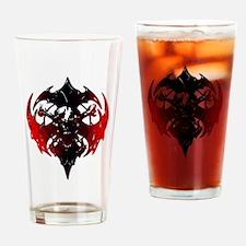 Tribal Skull and Crossbones Drinking Glass