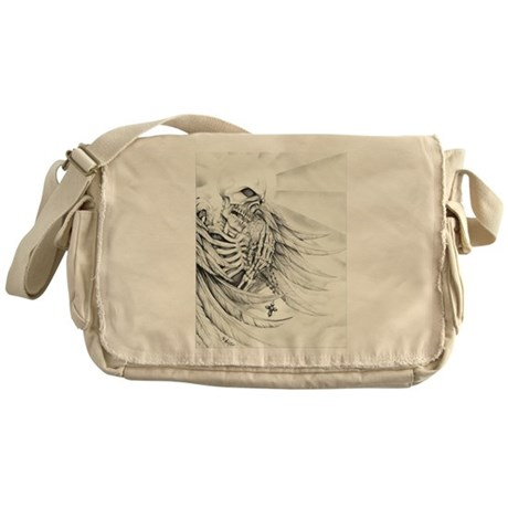 Skeleton with Rosary Messenger Bag