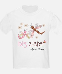 Big Sister Dragonfly Personalized T-Shirt