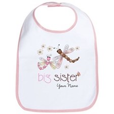 Big Sister Dragonfly Personalized Bib