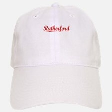 Rutherford, Vintage Red Baseball Baseball Cap