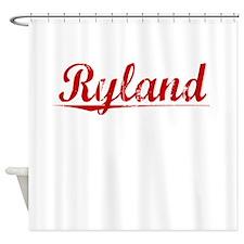 Ryland, Vintage Red Shower Curtain