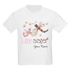 Little Sister Dragonfly Personalized T-Shirt