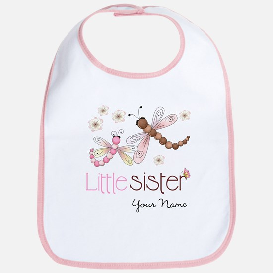 Little Sister Dragonfly Personalized Bib
