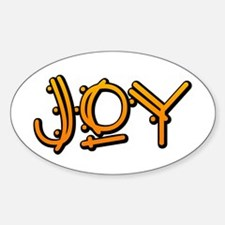JOY! Oval Bumper Stickers