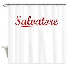 Salvatore, Vintage Red Shower Curtain