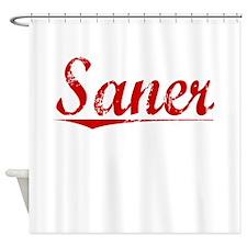 Saner, Vintage Red Shower Curtain