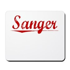 Sanger, Vintage Red Mousepad
