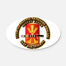 Army - DS - 11th ADA Bde Oval Car Magnet