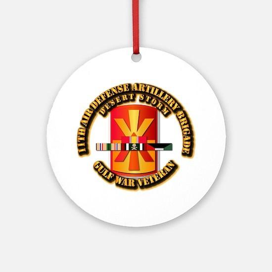 Army - DS - 11th ADA Bde Ornament (Round)