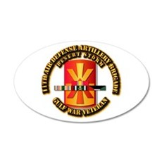 Army - DS - 11th ADA Bde 20x12 Oval Wall Decal