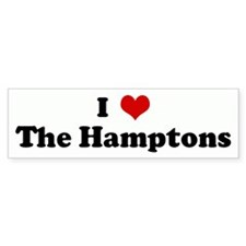 I Love The Hamptons Bumper Bumper Sticker