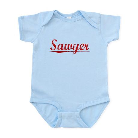 Sawyer, Vintage Red Infant Bodysuit