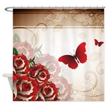 Rich Red Roses Shower Curtain