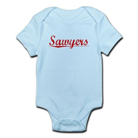 Sawyers, Vintage Red Infant Bodysuit
