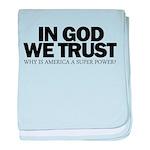 In God We Trust baby blanket