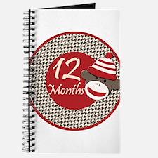 Sock Monkey 12 Months Milestone Journal