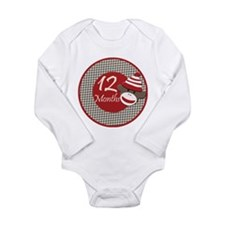 Sock Monkey 12 Months Milestone Baby Suit