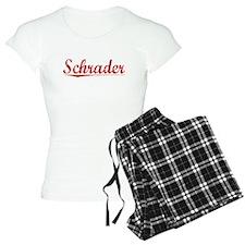 Schrader, Vintage Red Pajamas
