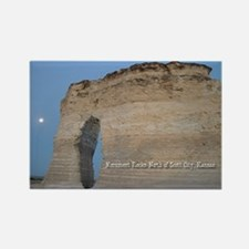 Moon at Monument Rocks Rectangle Magnet (10 pack)