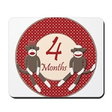 Sock Monkey 4 Months Milestone Mousepad