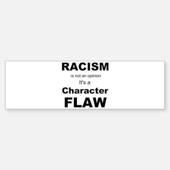 Racism blk Bumper Bumper Stickers