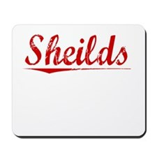Sheilds, Vintage Red Mousepad