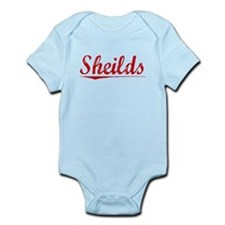 Sheilds, Vintage Red Infant Bodysuit