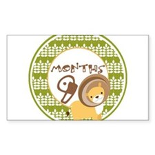 Safari 9 Months Milestone Decal