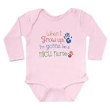 Kids Future NICU Nurse Long Sleeve Infant Bodysuit