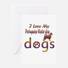 Portuguese water dog designs Greeting Card