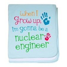 Future Nuclear Engineer baby blanket
