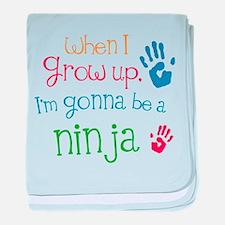 Kids Future Ninja baby blanket