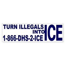 TURN ILLEGALS INTO ICE - Bumper Bumper Sticker