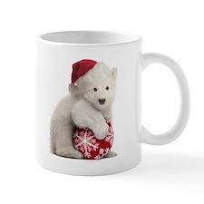 Polar Bear Cub Christmas Mug