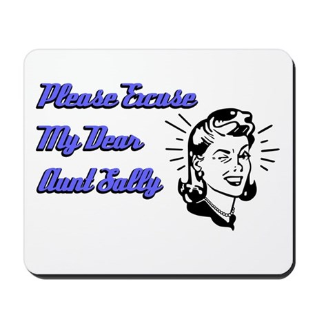 Dear Aunt Sally Mousepad