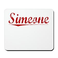 Simeone, Vintage Red Mousepad