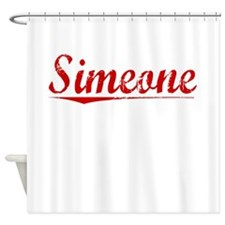 Simeone, Vintage Red Shower Curtain