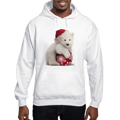 Polar Bear Cub Christmas Hooded Sweatshirt