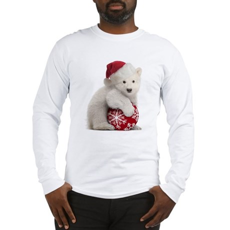 Polar Bear Cub Christmas Long Sleeve T-Shirt